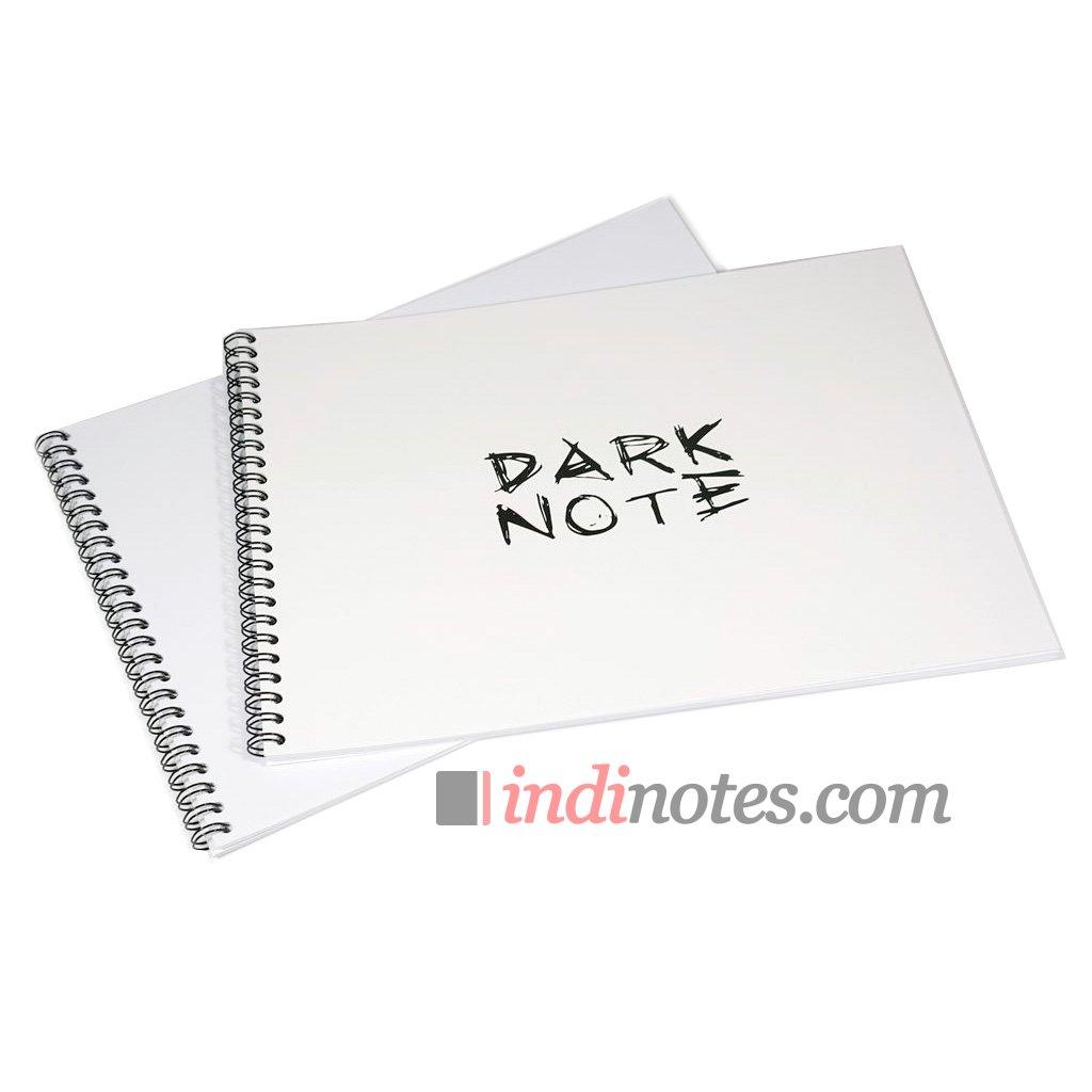 Скетчбук пейзажный Dark Note White