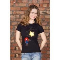 Женская футболка с вашим текстом Цветок