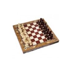 Резные шахматы ручной работы с гербом