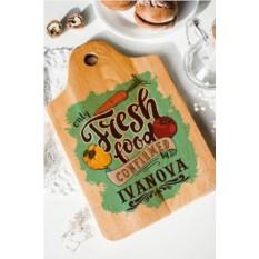 Разделочная доска с вашим текстом Fresh Food