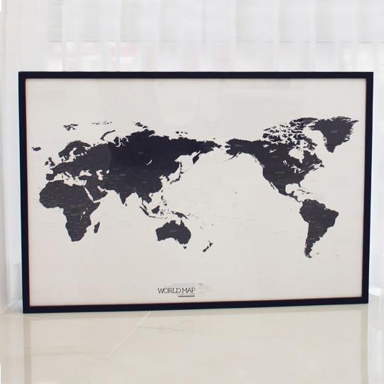 Карта мира Black&White