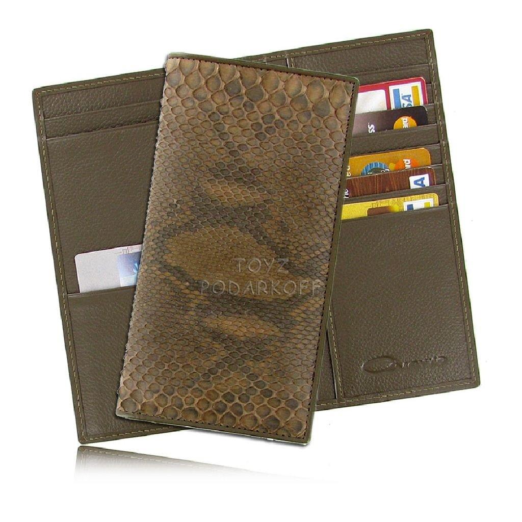 Мужской бумажник из матовой кожи питона Cango