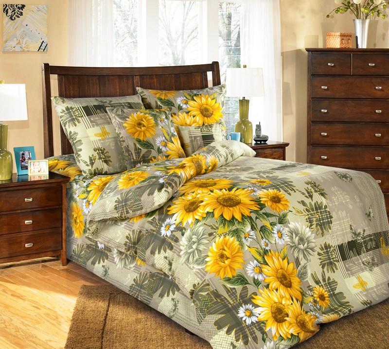 Комплект постельного белья Дары солнца бежевый (бязь)