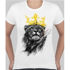 Женская футболка Лев с короной