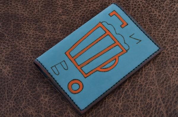 Обложка для паспорта. Коллекция Altamira (голубой; нат. кожа)