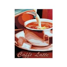 Картины по номерам «Кофе латте»