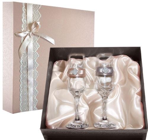 Набор свадебных бокалов №31 в подарочной коробке