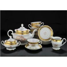 Фарфоровый чайный сервиз Fascia Oro на 12 персон