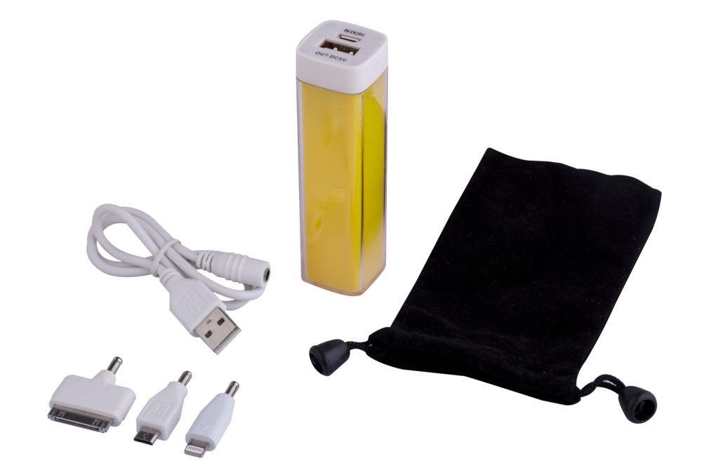 Универсальный аккумулятор Bar, 2200 mAh, желтый