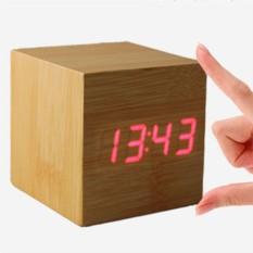 Часы-будильник Деревянный кубик