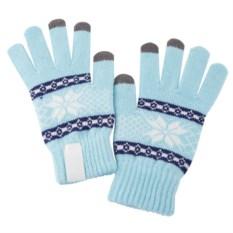 Голубые сенсорные перчатки Snowflake