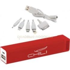 Красный внешний аккумулятор Chida 2800 mAh