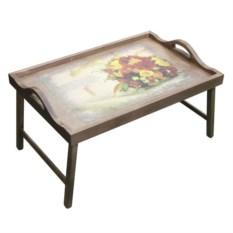 Столик для завтрака в постель с ручками Букет роз