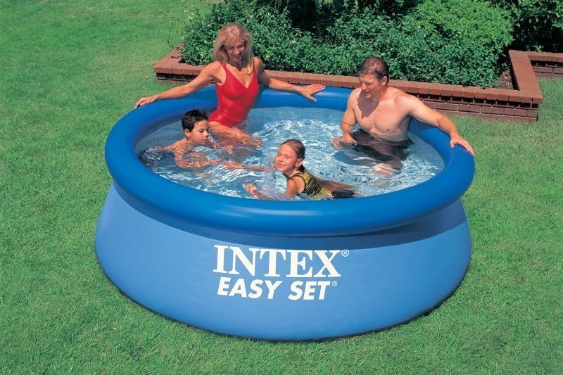 Надувной бассейн + фильтр насос Intex