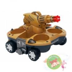 Коричневый радиоуправляемый танк-амфибия Вездеход