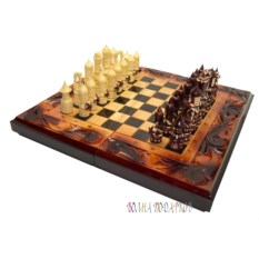 Набор игр: шахматы, шашки, нарды (40Х20 см)