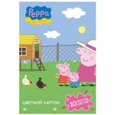 Картон цветной «Свинка Пеппа»