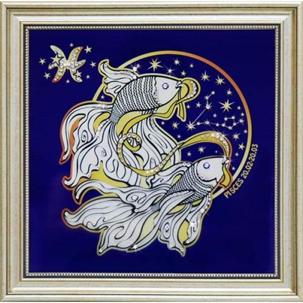Картина Звездные Рыбы (с кристаллами Сваровски)