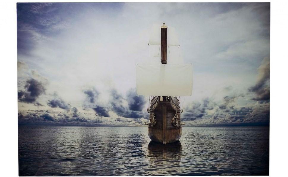 Стеклянное панно Корабль