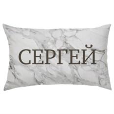 Подушка с вашим именем «Белый мрамор»