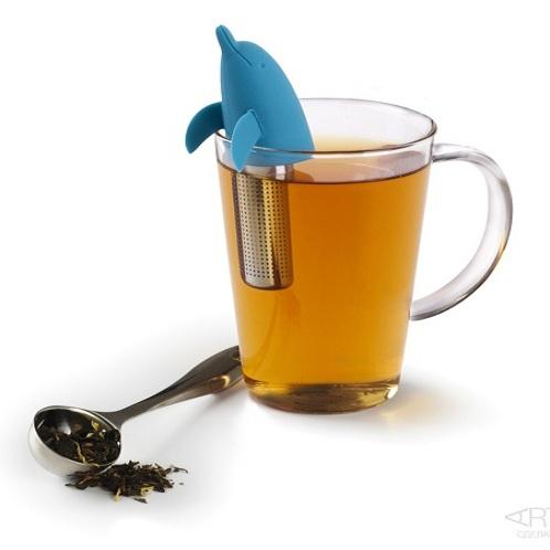 Голубая емкость для заваривания чая Dolphin