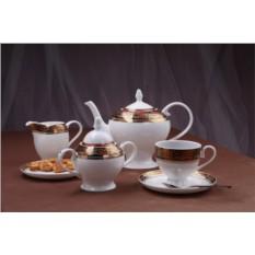 Чайный фарфоровый сервиз Дерби на 15 предметов