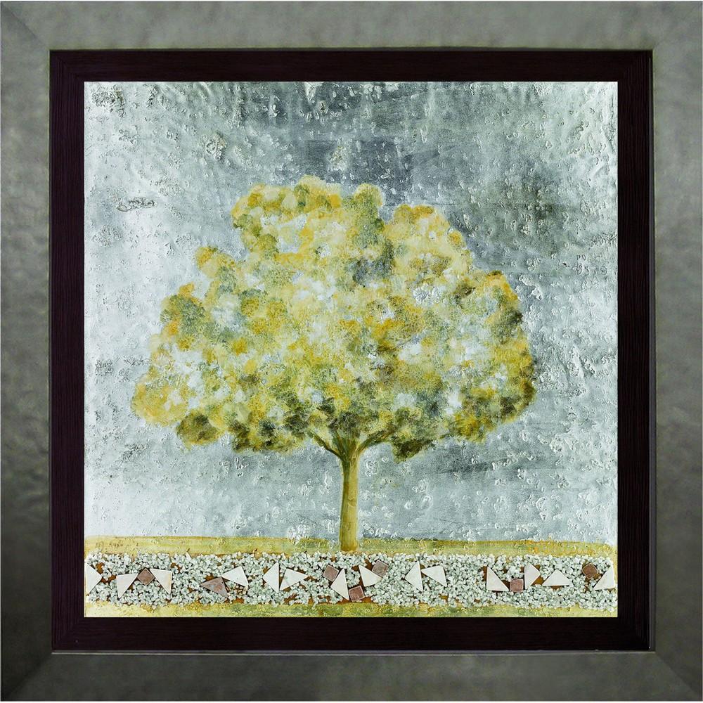 Настенное панно «Древо», серебряное