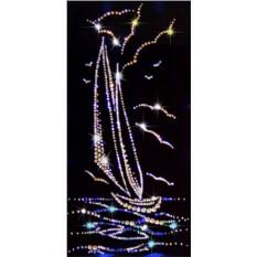 Картина с кристаллами Сваровски Парус