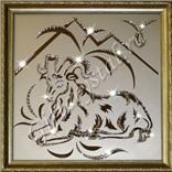 Картина с кристаллами Swarovski Овен (35х35 см)
