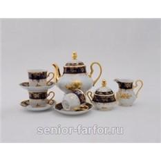 Чайный сервиз Золотая роза на 12 персон (27 предметов)