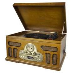 Музыкальный центр-ретро с пультом: AM/FM, CD, MP3, USB, SD