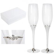 Набор из 2 бокалов для шампанского Crystal