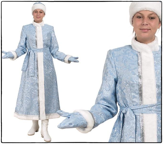 Костюм Снегурочка, длинная, приталенная (сантун голубой)