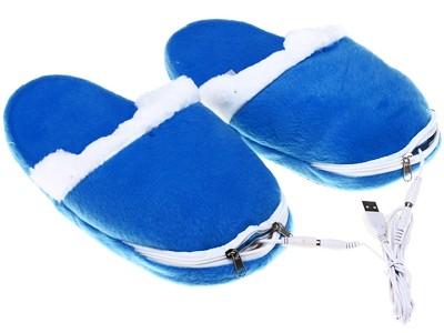 USB-тапочки с подогревом, синие