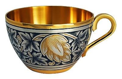Чашка из серебра Хмель