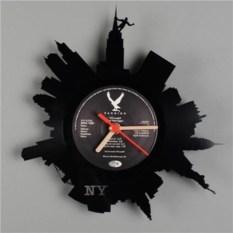 Часы из виниловой пластинки Нью-Йорк