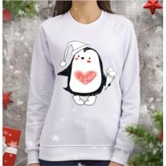 Женский свитшот Пингви с мороженым