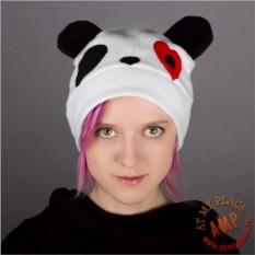 Шапка Панда с сердечком