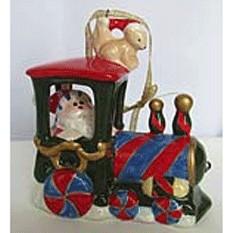 Фарфоровая музыкальная игрушка Рождественский паровоз
