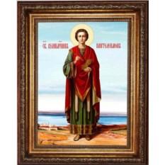 Икона на холсте Пантелеимон Целитель в полный рост
