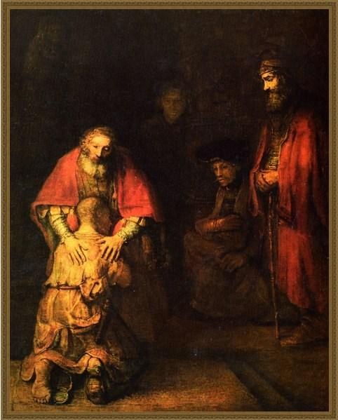 Репродукция на холсте Рембрандта «Возвращение блудного сына»