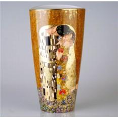 Фарфоровая ваза Климт. Поцелуй Goebel