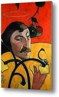 Репродукция картины Символический автопортрет с нимбом