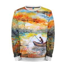 Мужской свитшот Рыбак на лодке