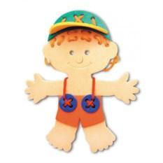 Развивающая игрушка-шнуровка Мальчик