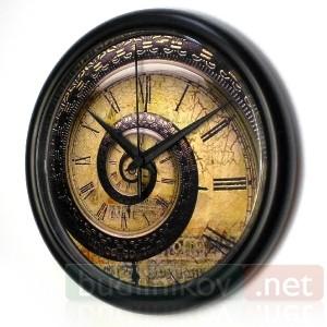 Часы настенные Спираль Времени №1
