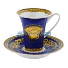 Синяя кофейная пара «Medusa»