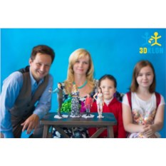 Семейная 3D-фотосессия. Масштаб 1:12