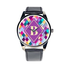 Часы с вашей монограммой Rhombus