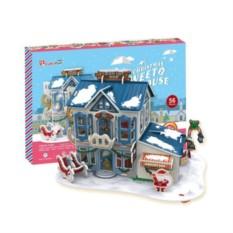 Пазлы Cubic Fun Рождественский домик 2 (с подсветкой)